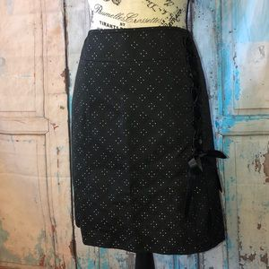 Context Black Skirt Lace-Up Side NWT